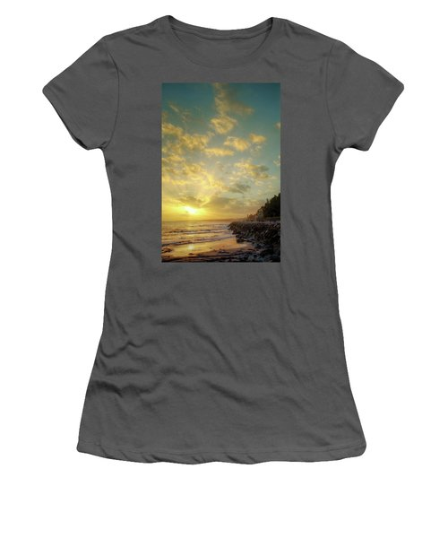Women's T-Shirt (Junior Cut) featuring the photograph Sunset In The Coast by Carlos Caetano