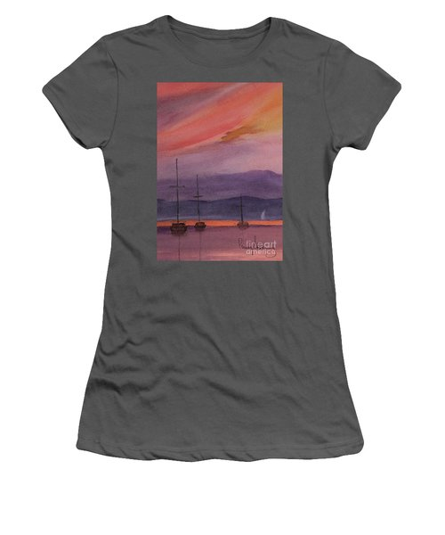 Sunset On Madeline Island Women's T-Shirt (Athletic Fit)