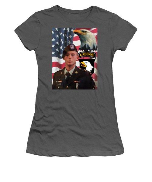 Texas Hero Women's T-Shirt (Junior Cut) by Ken Pridgeon