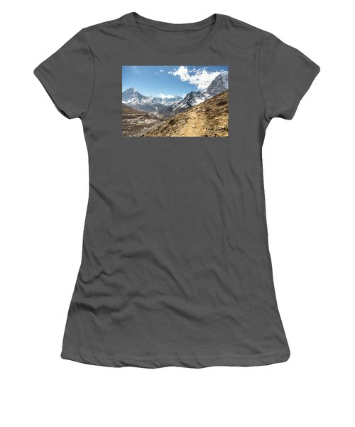 The Path To Cho La Pass In Nepal Women's T-Shirt (Athletic Fit)