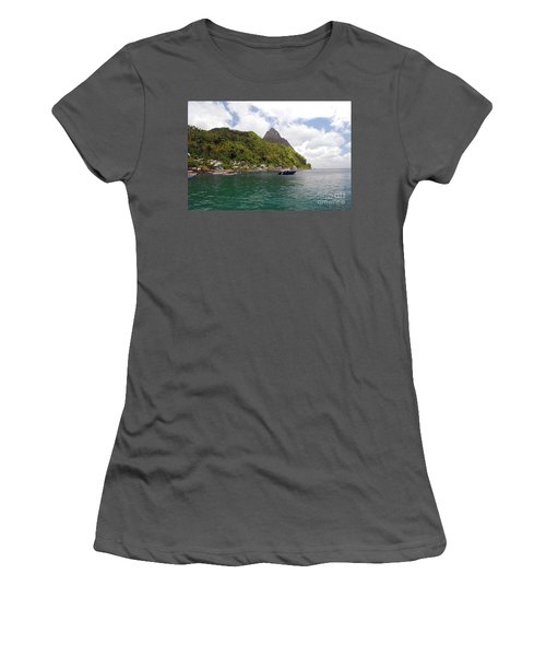 Women's T-Shirt (Athletic Fit) featuring the photograph The Pilons by Gary Wonning