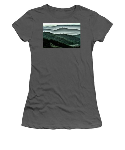 The Point Overlook Women's T-Shirt (Junior Cut) by Thomas R Fletcher