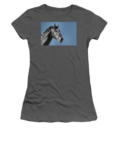 The Stallion Women's T-Shirt (Junior Cut) by Michael Mogensen