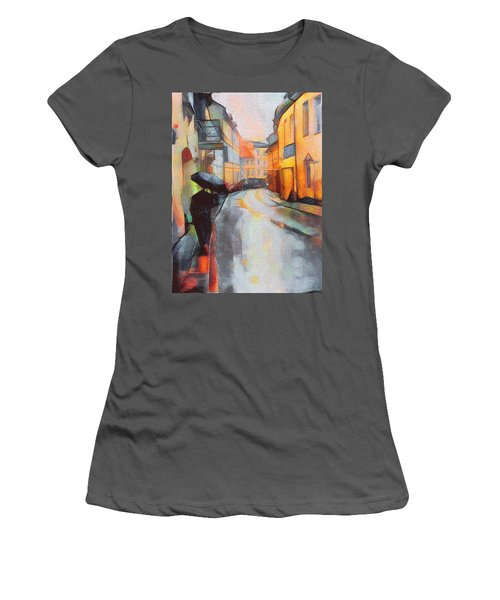 Under The Rain Women's T-Shirt (Athletic Fit)