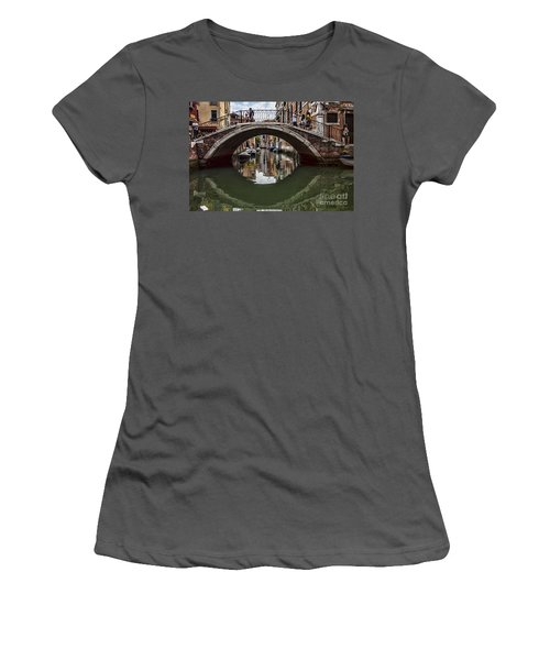 Women's T-Shirt (Junior Cut) featuring the photograph Venice by Shirley Mangini