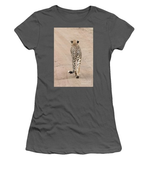 Women's T-Shirt (Junior Cut) featuring the photograph Walking Away by Pravine Chester