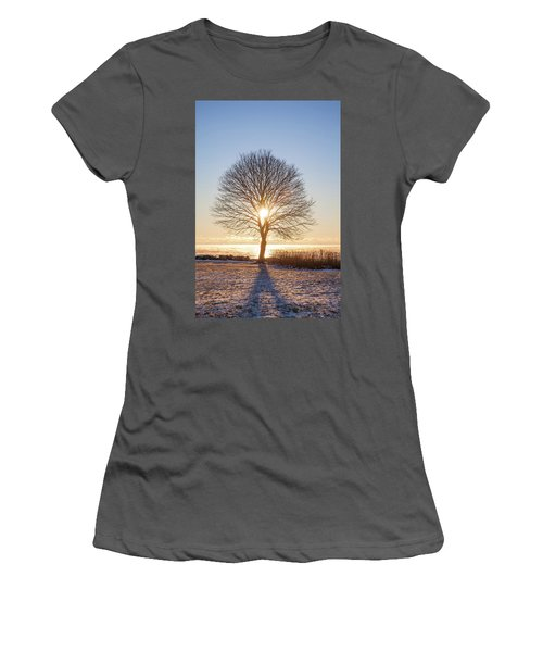 Women's T-Shirt (Junior Cut) featuring the photograph Whaleback Sunrise by Robert Clifford