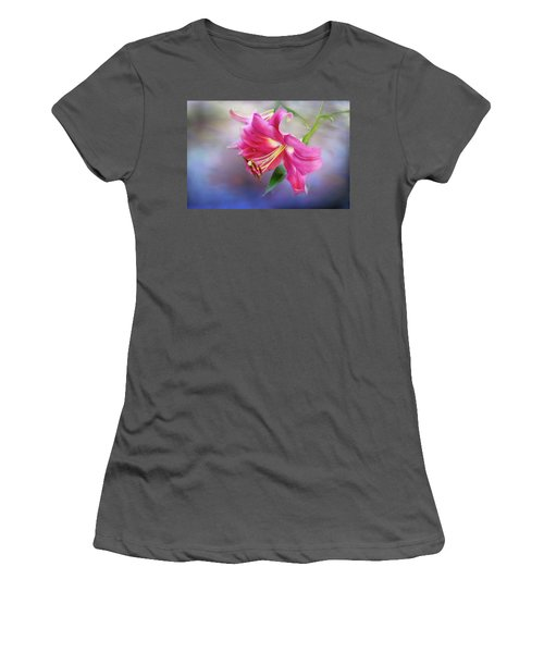 White Hall Lily Women's T-Shirt (Athletic Fit)