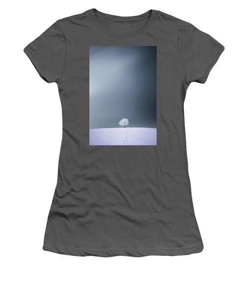Women's T-Shirt (Junior Cut) featuring the photograph Winter Tree by Bess Hamiti
