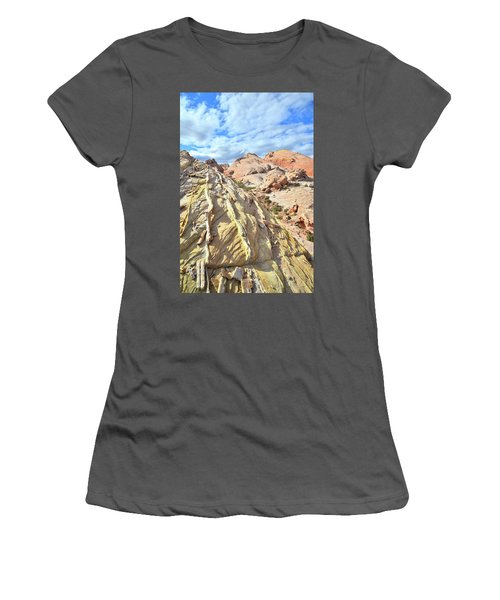 Yellow Brick Road In Valley Of Fire Women's T-Shirt (Junior Cut) by Ray Mathis