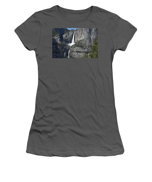 Yosemite Falls From The Four Mile Trail Women's T-Shirt (Athletic Fit)