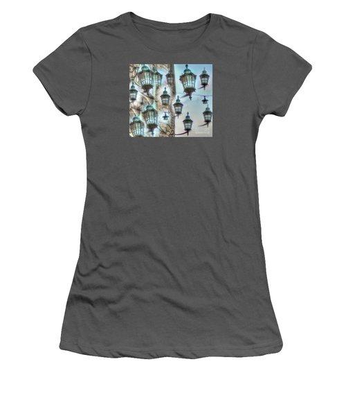 Women's T-Shirt (Junior Cut) featuring the mixed media Yury Bashkin Light by Yury Bashkin