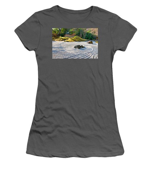 Zen Garden At A Sunny Morning Women's T-Shirt (Athletic Fit)