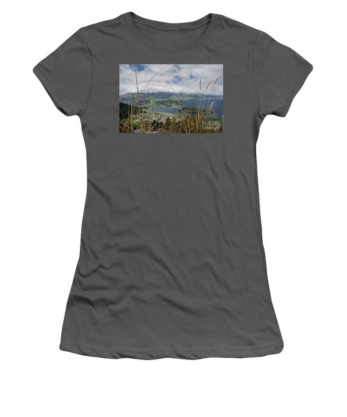 Queenstown New Zealand. Remarkable Ranges And Lake Wakatipu. Women's T-Shirt (Junior Cut) by Yurix Sardinelly