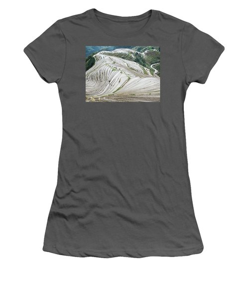 Terrace Fields Scenery In Spring Women's T-Shirt (Athletic Fit)