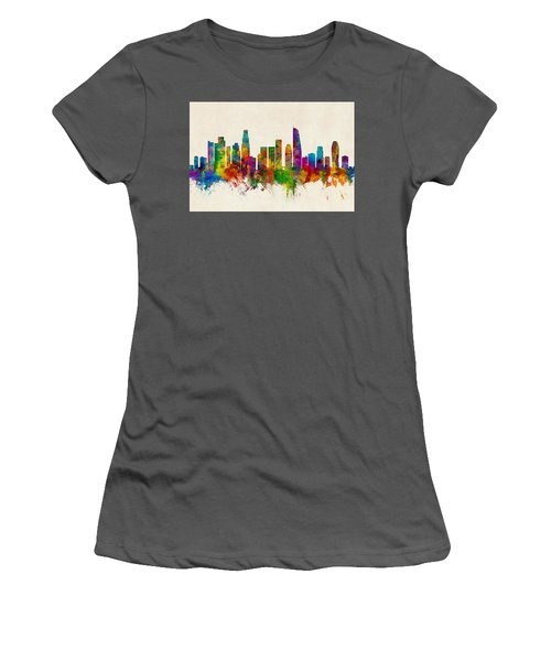 Los Angeles California Skyline Women's T-Shirt (Athletic Fit)