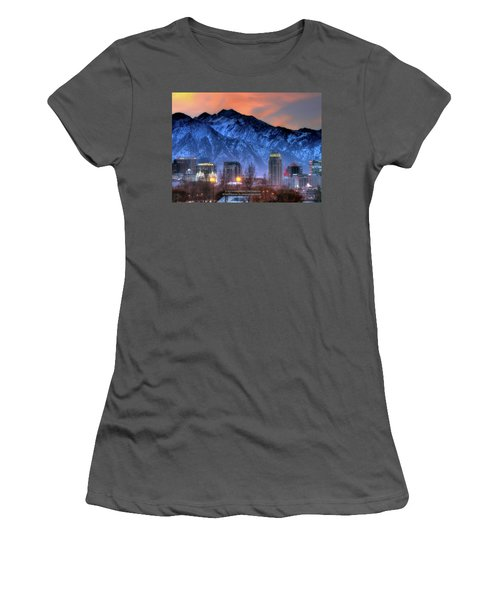 Salt Lake City Skyline Women's T-Shirt (Athletic Fit)