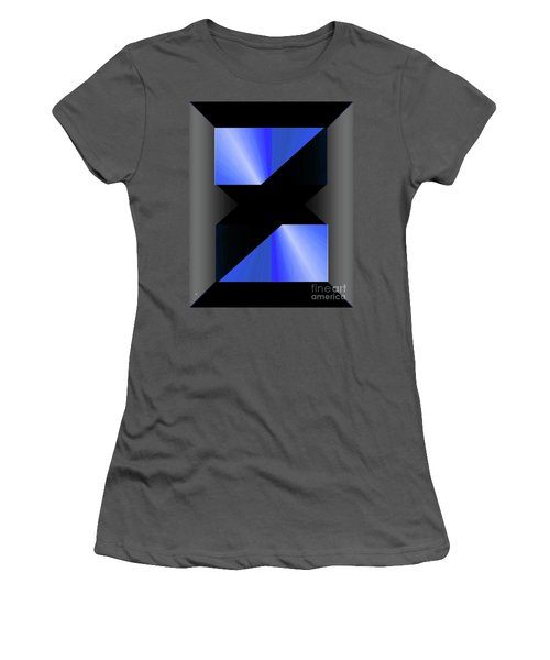 Women's T-Shirt (Junior Cut) featuring the digital art 1204-2017 by John Krakora