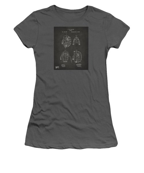 1878 Baseball Catchers Mask Patent - Gray Women's T-Shirt (Junior Cut) by Nikki Marie Smith