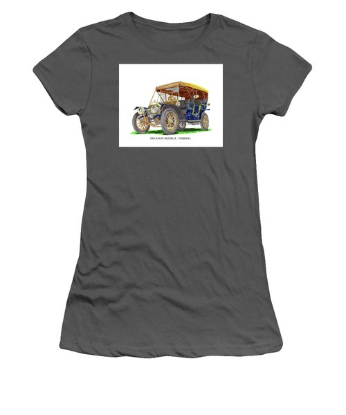 1910 Knox Model R 5 Passenger  Touring Automobile Women's T-Shirt (Junior Cut) by Jack Pumphrey