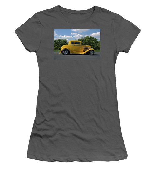 1931 Ford Coupe Hot Rod Women's T-Shirt (Athletic Fit)