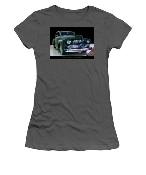 Women's T-Shirt (Athletic Fit) featuring the photograph 1946 Lincoln Convertible by Chris Flees