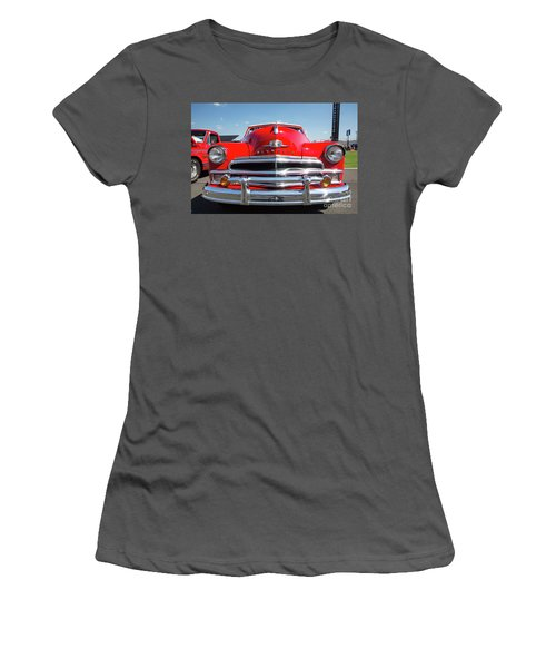1950 Plymouth Automobile Women's T-Shirt (Junior Cut) by Kevin McCarthy