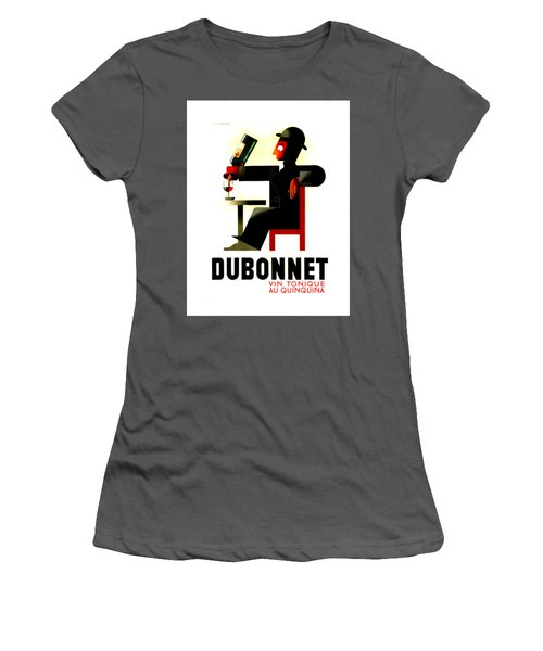1956 Dubonnet Poster II By Adolphe Mouron Cassandre Women's T-Shirt (Junior Cut) by Peter Gumaer Ogden Collection