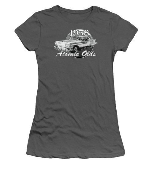 1958 Oldsmobile Hardtop With Continental Kit In Tow Women's T-Shirt (Athletic Fit)