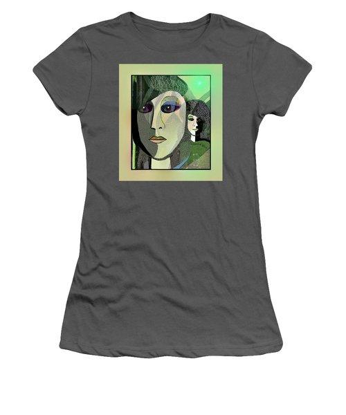 Women's T-Shirt (Junior Cut) featuring the digital art 1968 - A Dolls Head by Irmgard Schoendorf Welch