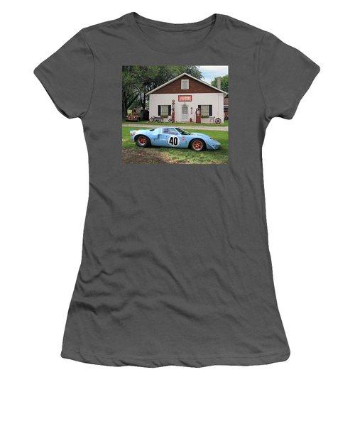 Women's T-Shirt (Junior Cut) featuring the photograph 1968 Gulf Mirage In Missouri by Christopher McKenzie
