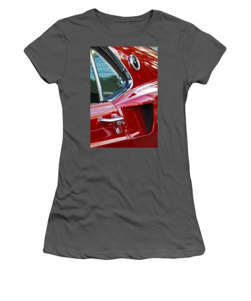 1969 Ford Mustang Mach 1 Side Scoop Women's T-Shirt (Athletic Fit)