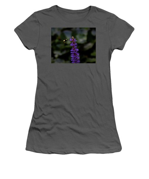 Women's T-Shirt (Junior Cut) featuring the photograph Bee by Jay Stockhaus