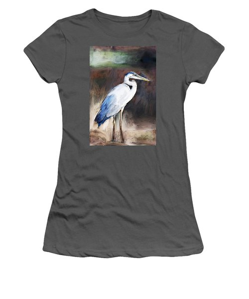 Blue Heron II  Women's T-Shirt (Athletic Fit)