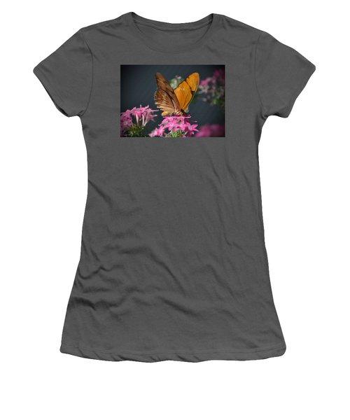 Women's T-Shirt (Junior Cut) featuring the photograph Butterfly by Savannah Gibbs