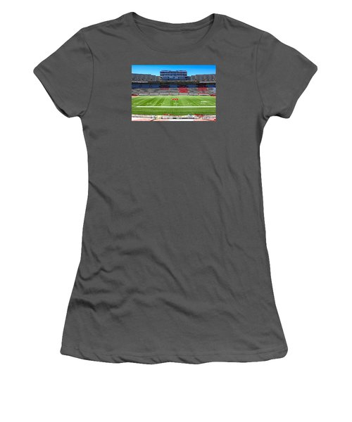 Camp Randall Uw Madison Women's T-Shirt (Junior Cut) by Chris Smith