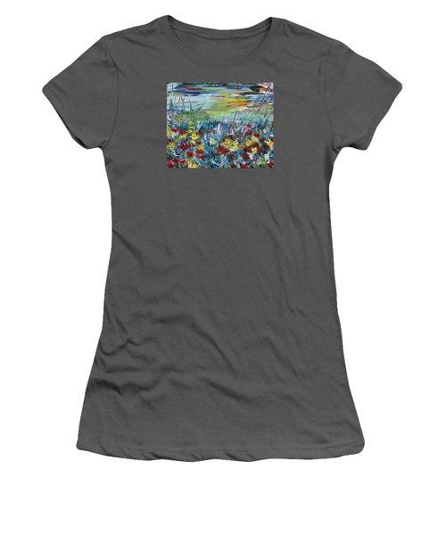 Flower Field Women's T-Shirt (Junior Cut) by Teresa Wegrzyn
