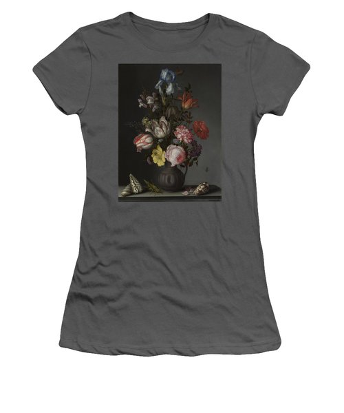 Flowers In A Vase With Shells And Insects Women's T-Shirt (Athletic Fit)