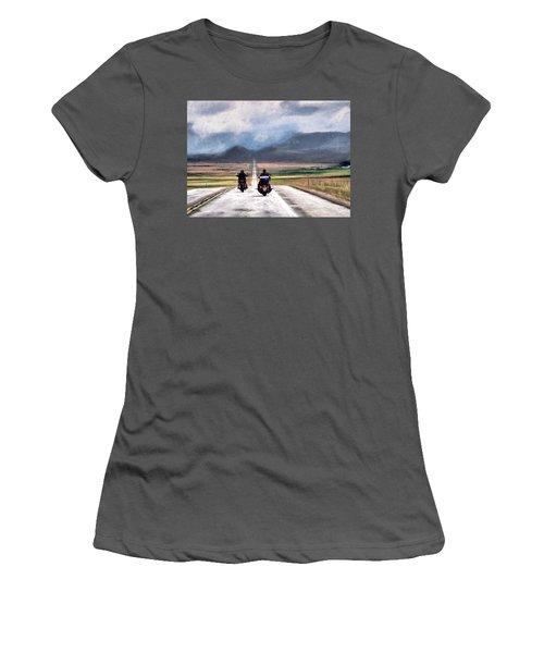 Women's T-Shirt (Junior Cut) featuring the photograph Roll Me Away by Jim Hill