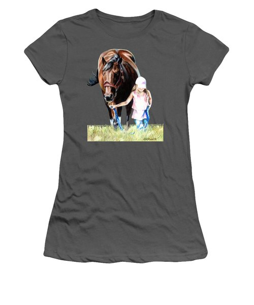 Just A Girl And Her Horse  Women's T-Shirt (Junior Cut) by Shana Rowe Jackson