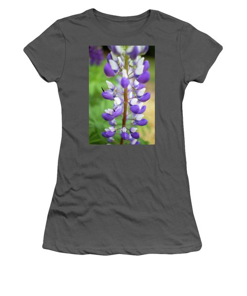 Women's T-Shirt (Junior Cut) featuring the photograph Lupine Blossom by Robert Clifford