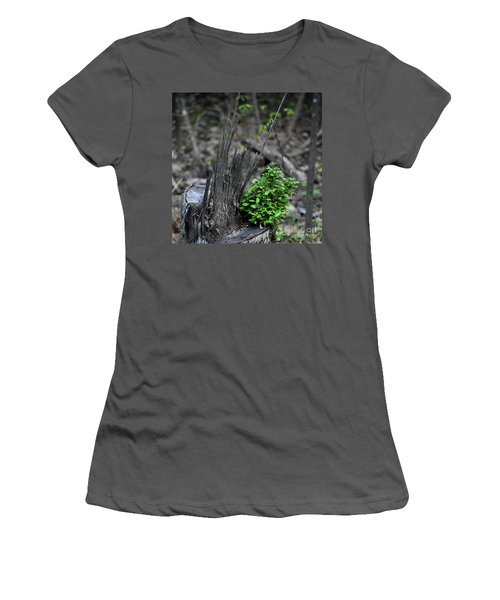 Women's T-Shirt (Junior Cut) featuring the photograph Persistence by Skip Willits