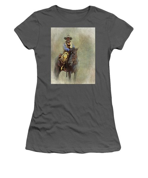 Women's T-Shirt (Junior Cut) featuring the photograph Ride Em Cowboy by David and Carol Kelly
