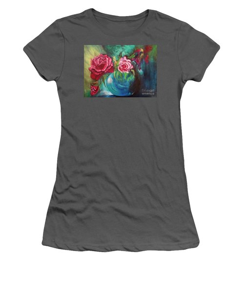 Roses One Of A Kind Handmade Women's T-Shirt (Athletic Fit)