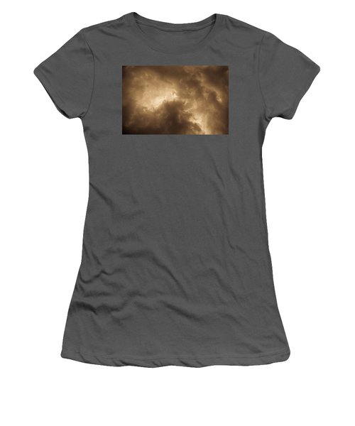 Sepia Clouds Women's T-Shirt (Athletic Fit)