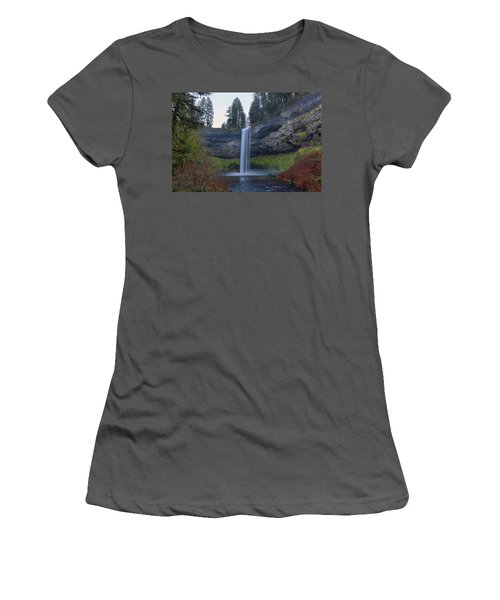 South Falls At Silver Falls State Park Women's T-Shirt (Athletic Fit)