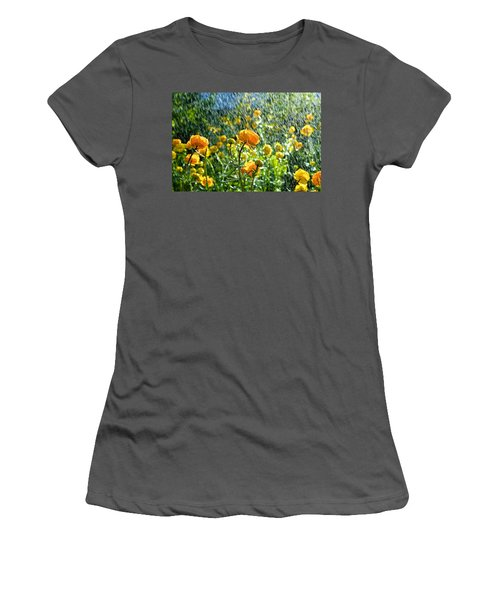 Spring Flowers In The Rain Women's T-Shirt (Athletic Fit)