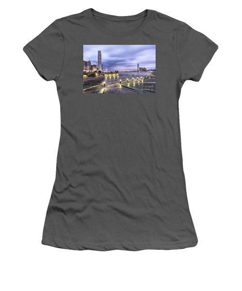 Sunset Over Hong Kong Women's T-Shirt (Athletic Fit)