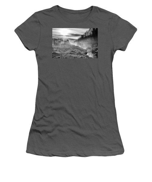 Women's T-Shirt (Junior Cut) featuring the photograph Winter Mist by Thomas R Fletcher