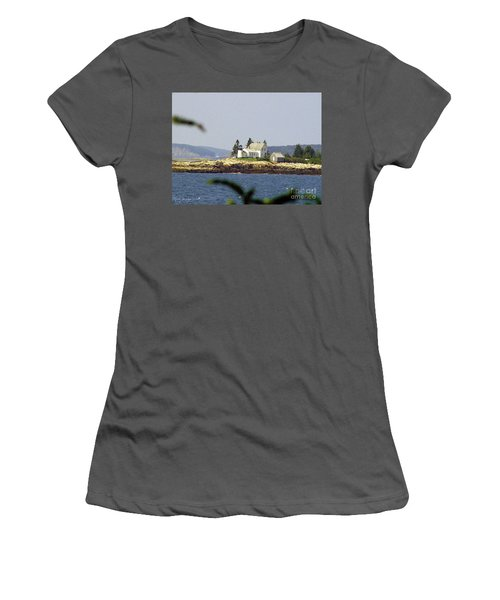 2015 Winter Harbor Light Women's T-Shirt (Athletic Fit)